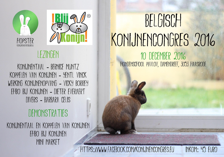 Persbericht Belgisch Konijnencongres 2016 | Konijnenadviesbureau Hopster