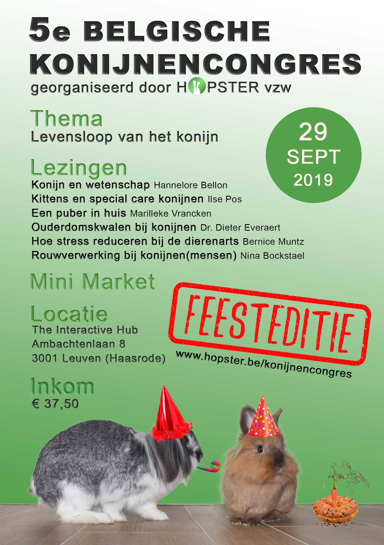 Flyer Konijnencongres 2019 | Konijnenadviesbureau Hopster